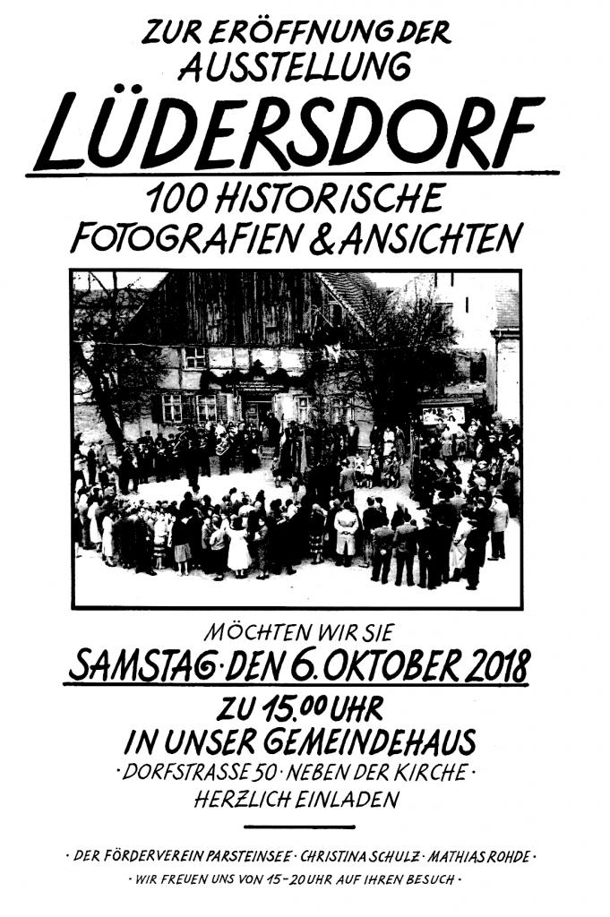 Ausstellungseröffnung 100 Historische Ansichten aus Lüdersdorf @ Gemeindehaus Lüdersdorf